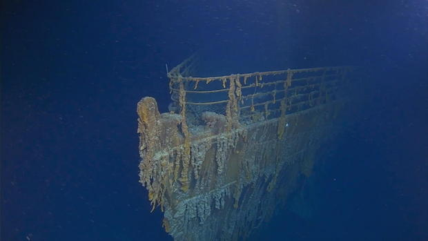 This handout image shows a view of the Titanic. (ATLANTIC PRODUCTIONS)