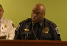 Fort Myers Police Dept. Chief Derrick Diggs speaks in a press conference on Thursday afternoon. (Credit: WINK News)