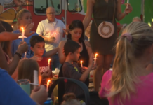 Community gathers in Cape Coral Friday evening to remember the two girls who lost their lives the last school year. (Credit: WINK News)