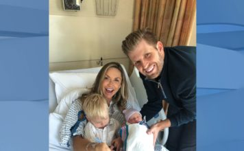 Eric Trump and his wife welcome a new baby girl into the world! (Credit: Eric Trump, Twitter)