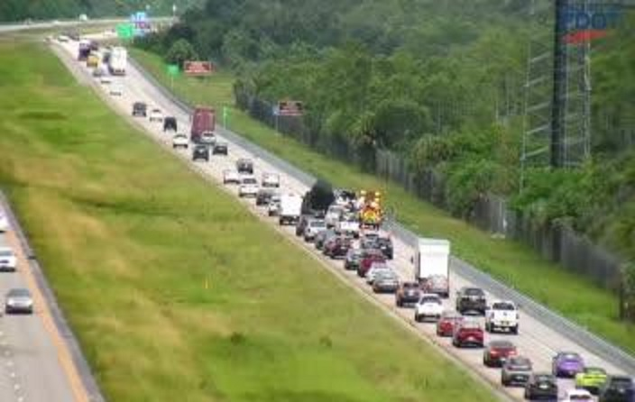 FDOT footage of the traffic delay. (Credit: FDOT)