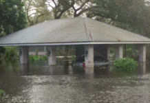 Flooding at a Buckingham home from Hurricane Irma. (Credit: WINK News)