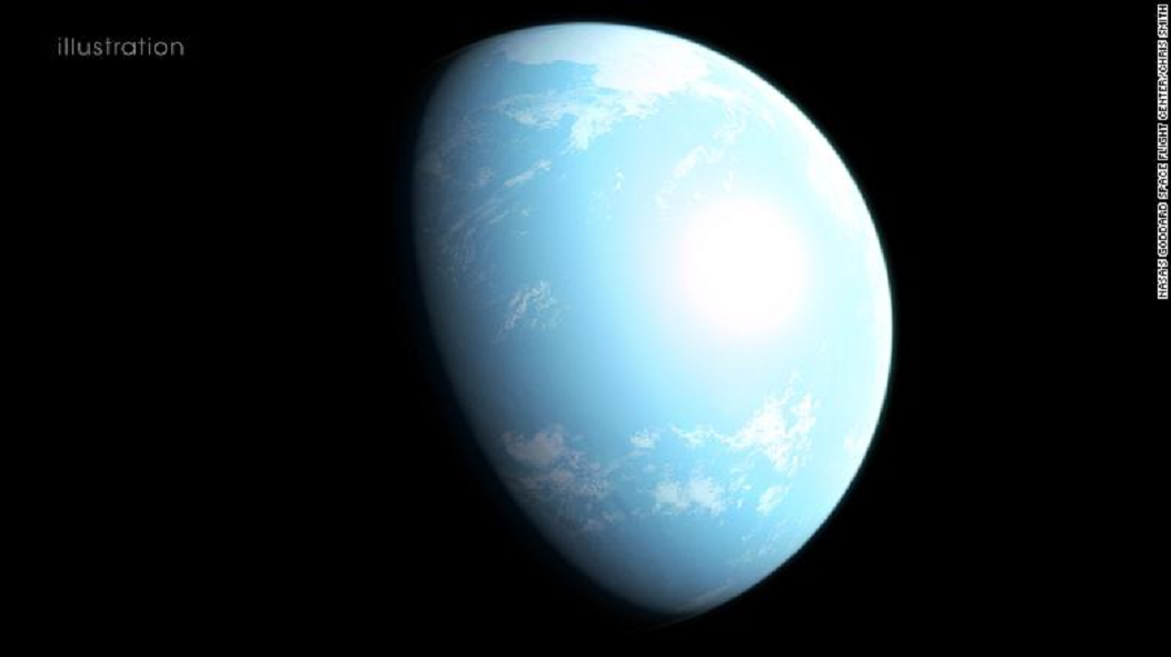 Illustration of super-Earth GJ 357 d might look like. (Credit: NASA)