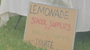 Gelinas' sign advertising lemonade. (Credit: WINK News)