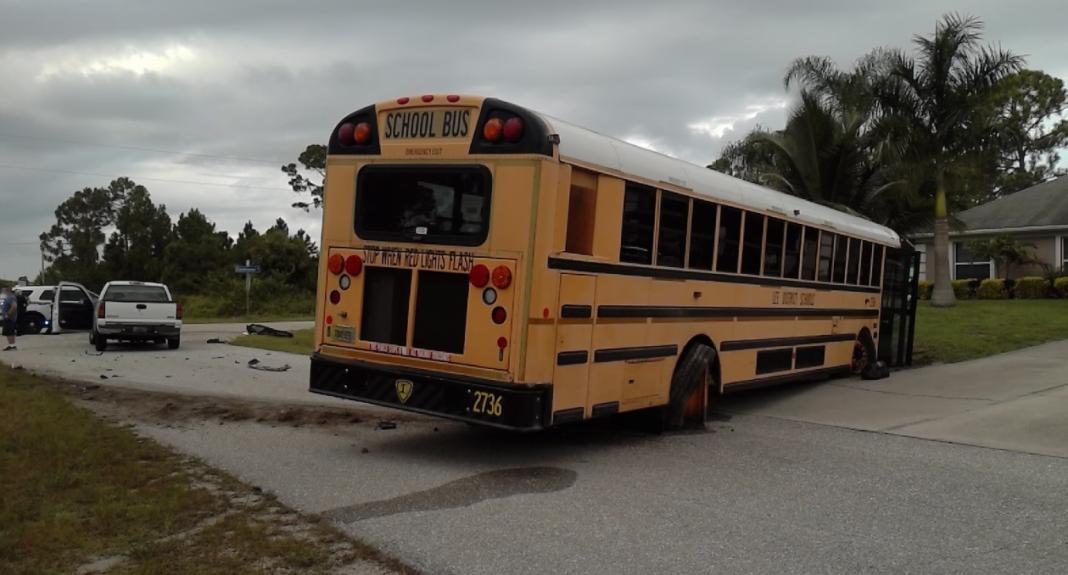 School bus crash. (Credit: FHP)