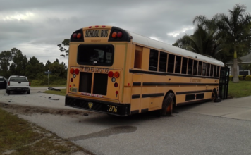 School bus crash. (Credit: FHP)