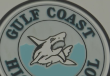 Seal of Gulf Coast High School in Collier County. (Credit: WINK News)