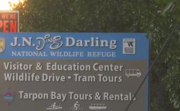 Sign for J.N. Ding Darling National Wildlife Refuge. (Credit: WINK News)