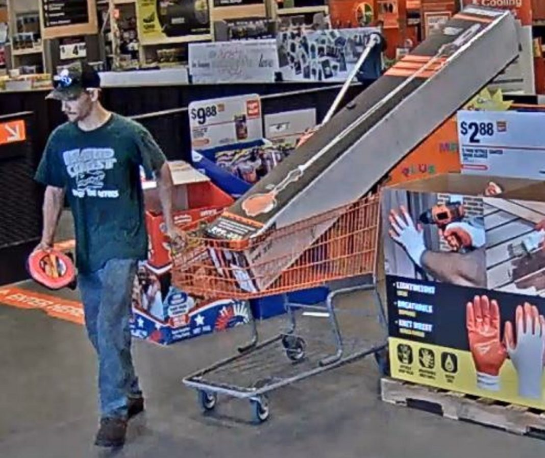 Suspect in $838.86 theft from Home Depot. (Credit: CCPD)