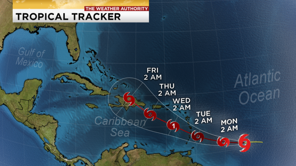 Tropical Storm Dorian may reach hurricane strength over the Caribbean