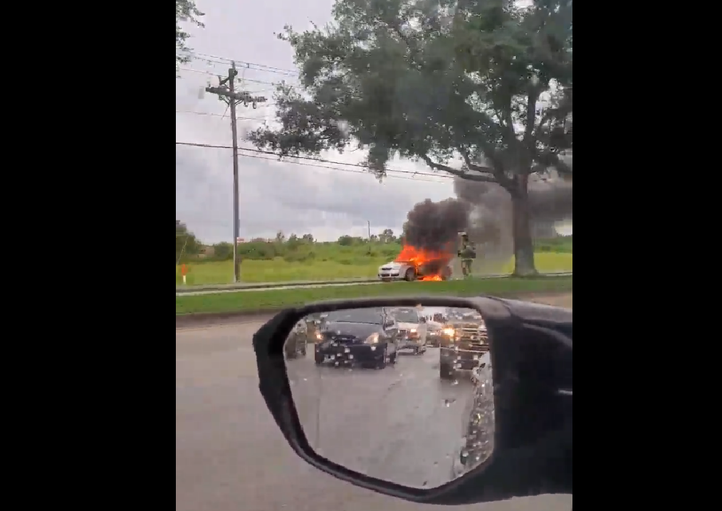 Vehicle fire in Fort Myers. (Credit: WINK News)