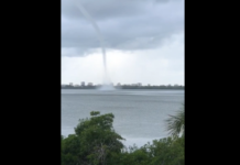 Waterspout in Marco Island on Sunday, Aug. 4. (Credit: Denise Askew Galpin)