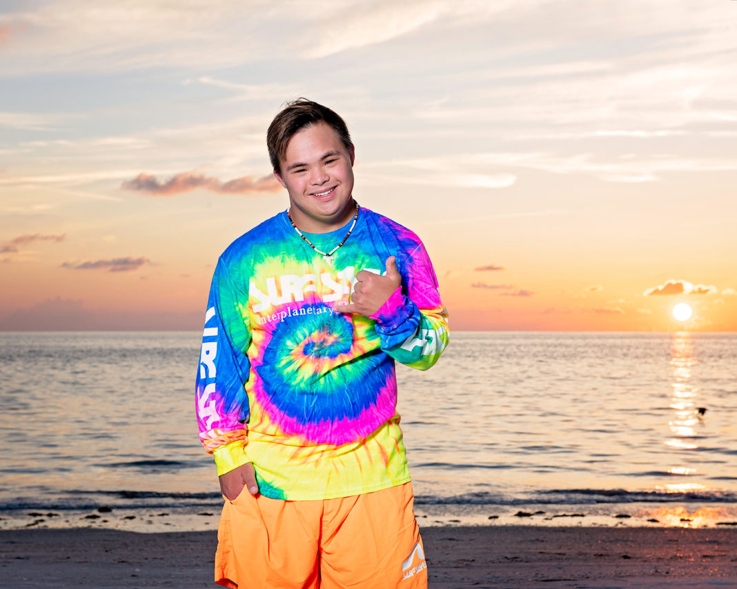 Hollywood, Florida surf shop Surf Style has hired their first model with Down syndrome. (Surf Style via CBSMiami)