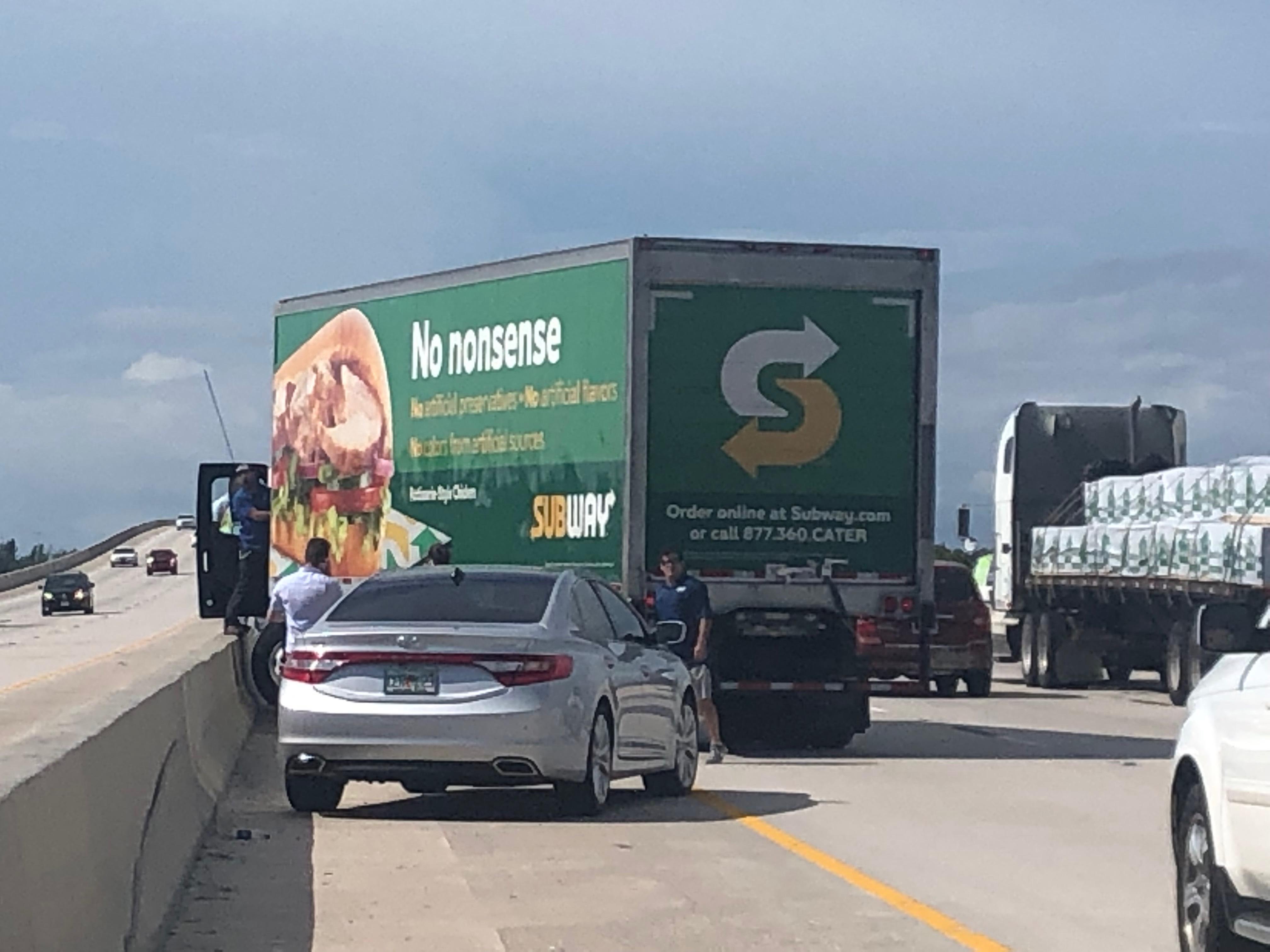 Box truck crash on I-75 caused delays in Punta Gorda near