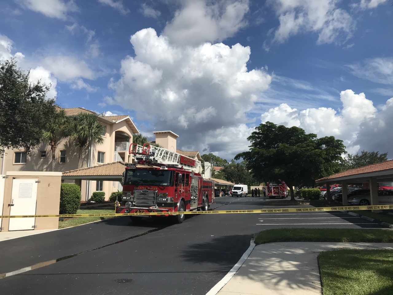 Fire at Blue Heron Naples condo. (Credit: WINK News)