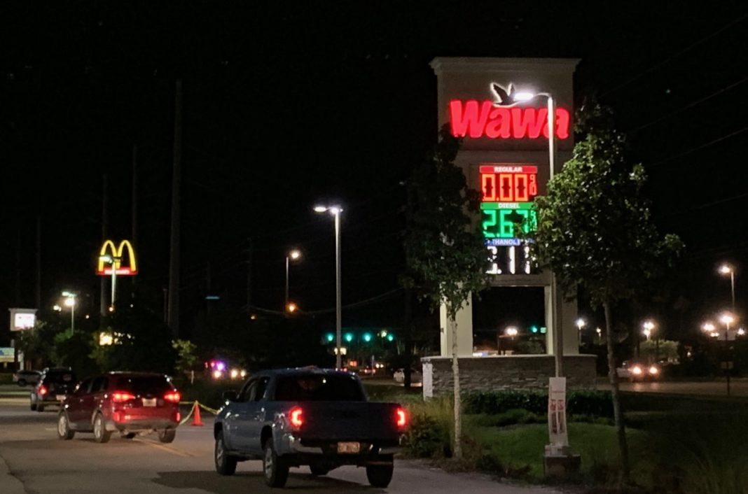 FILE: Wawa Fort Myers gas station in August 2019. (Credit: WINK News/FILE)FILE: Wawa Fort Myers gas station in August 2019. (Credit: WINK News/FILE)