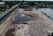 Dunbar sludge site (WINK news drone)