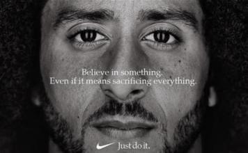 Colin Kaepernick. (Credit: CBS News via Nike)