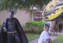 Finalist for Lee County Officer of the Year turns sick kids into superheroes. (Credit: WINK News