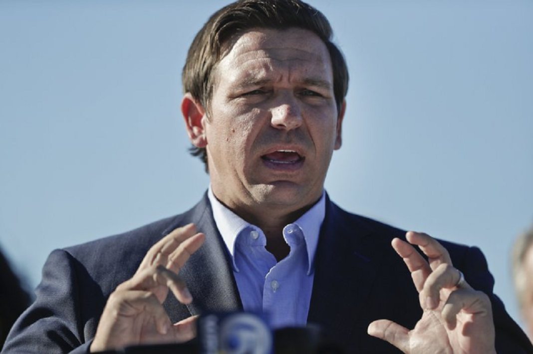 FILE - In this Jan. 29, 2019 file photo, Gov. Ron DeSantis speaks about his environmental budget at the Everglades Holiday Park during a new conference in Fort Lauderdale, Fla. Russian hackers gained access to voter databases in two Florida counties ahead of the 2016 presidential election, DeSantis said at a news conference Tuesday, May 14. DeSantis said the hackers didn't manipulate any data and the election results weren't compromised. He and officials from the Florida Department of Law Enforcement were briefed by the FBI and Department of Homeland Security on Friday, May 10. (AP Photo/Brynn Anderson, File)