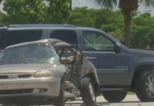 Hit-and-run crash that left a woman dead. (Credit: WINK News)