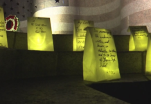 Luminaries lit in Naples honoring the victims on Sept. 11, 2001 in the New York City terrorist attacks. (Credit: WINK News)