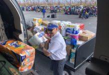 Mayor Randy Henderson drops off supplies to the Bahamas. (Credit: Mayor's office)
