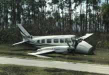 Plane in the Bahamas wrecked by Hurricane Dorian. (Credit: Glass family)