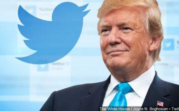 President Donald Trump tweet illustration. (Credit: MGN)