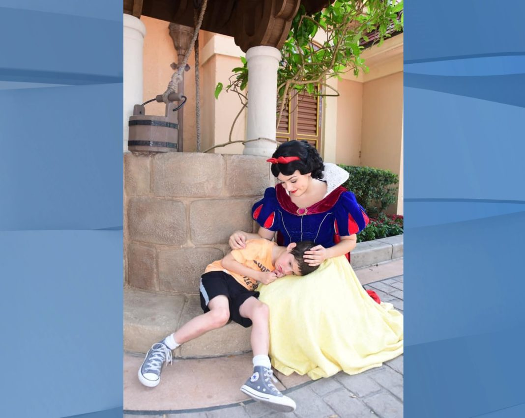 A mother from New Jersey wrote an emotional letter to Disney this month, praising one of their princesses and how she handled an interaction with a boy with autism. (Credit: CBS News via Lauren Bergner)