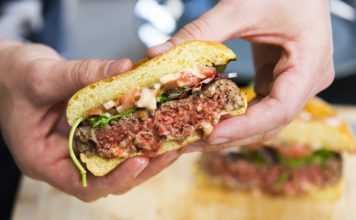 The Impossible Burger is hitting grocery shelves for the first time this week. (Credit: CNN)