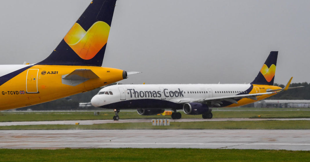 Thomas Cook collapse sees hundreds of thousands of travel bookings cancelled. (Credit: CBS News)