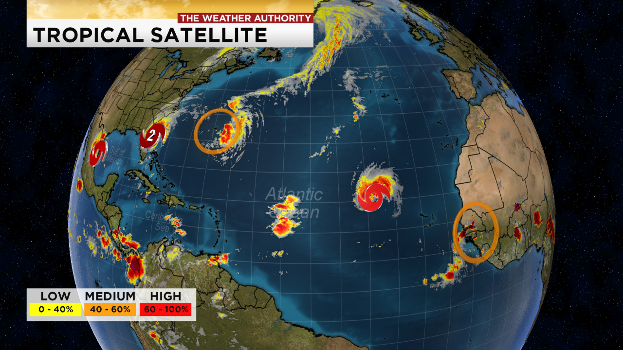 Tropical satellite- Wednesday 11 a.m. (WINK News)