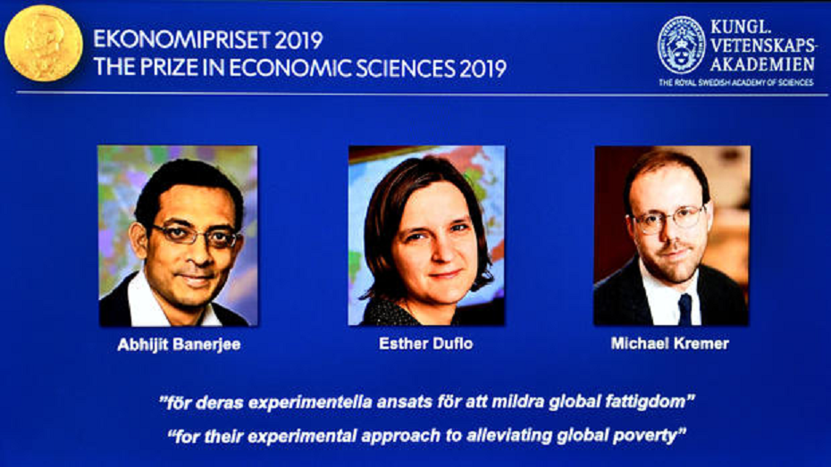 A trio of economists were awarded the Nobel Prize on Monday for their work to alleviate global poverty. (Credit: CBS News)
