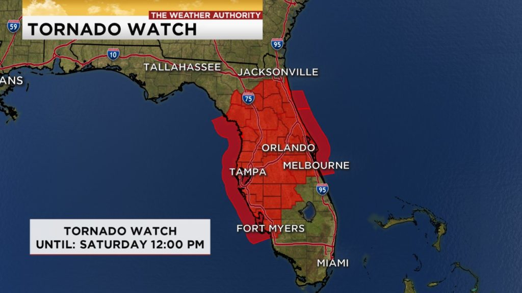 Tornado Watch in effect for parts of SWFL due to TS Nestor