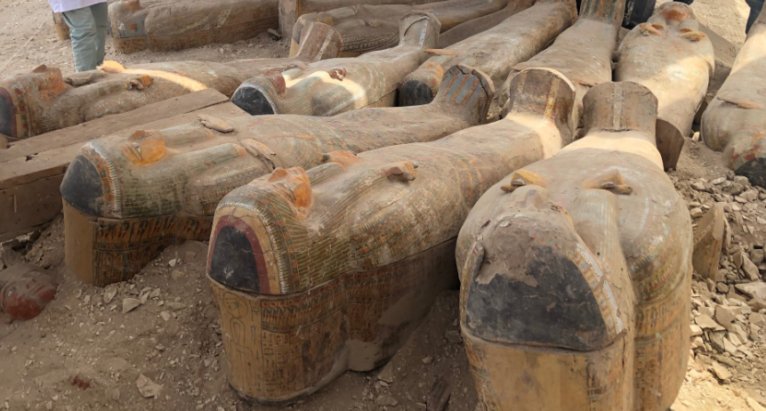 Egypt reveals details about 30 ancient coffins found with mummies inside