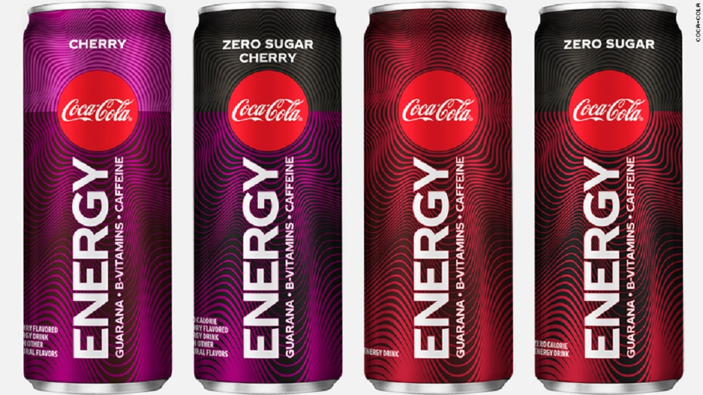 Four varieties of Coca-Cola Energy are coming to the United States in January. (Credit: CNN)