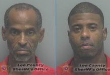 Mugshots of Dwayne Johnson, 56, and Tyrone Samuel, 34. (Credit: Lee County Sheriff's Office)