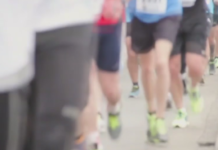 People running in a 5K. (Credit: WINK News)