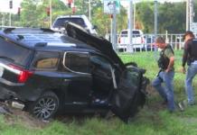 Scene of the crash. (Credit: WINK News)
