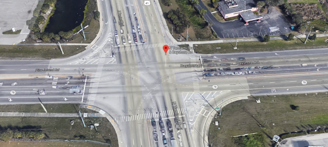 Site of the SR-78 and US-41 crash Saturday evening. (Credit: Google Maps)
