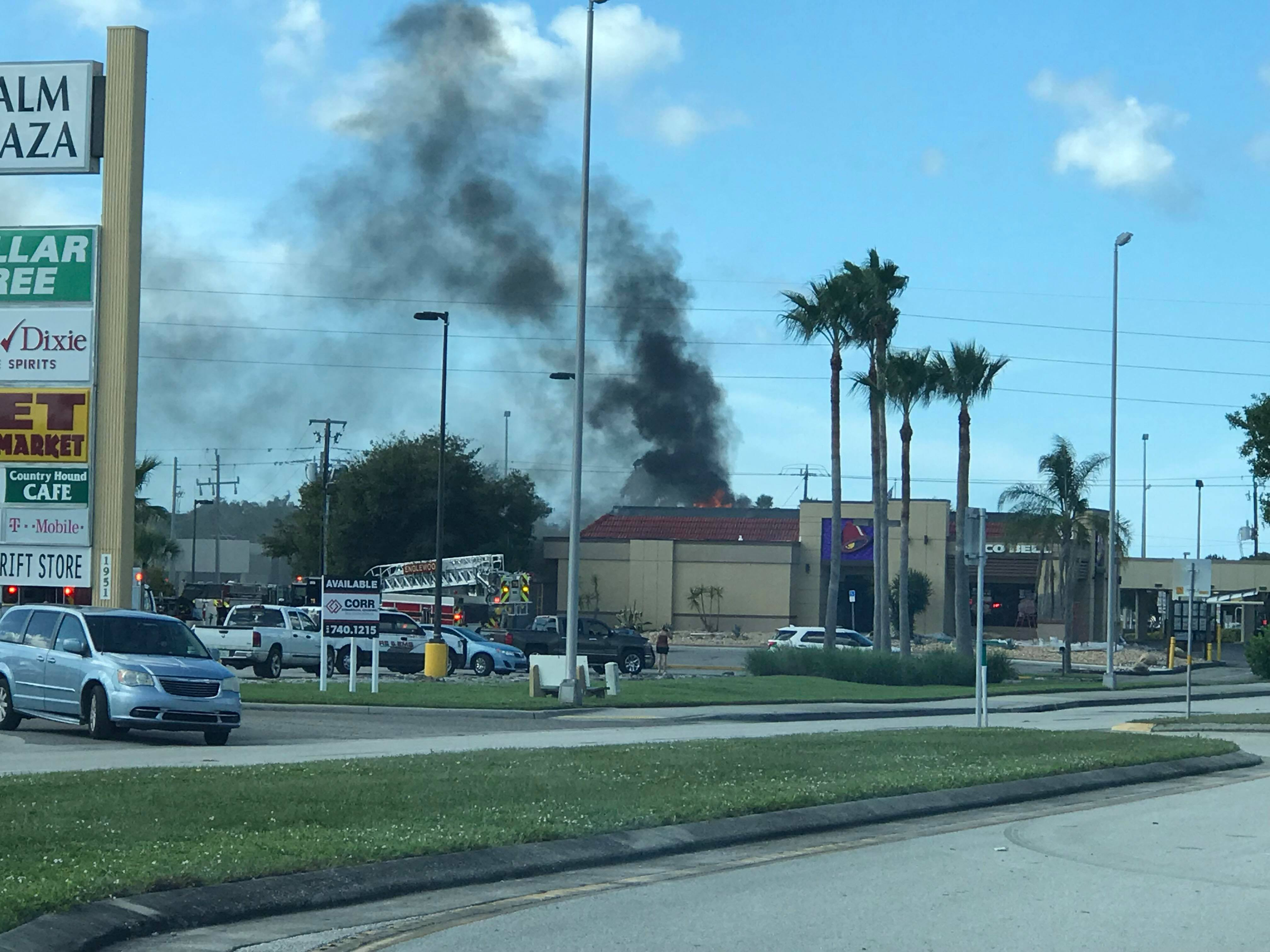 Englewood Fire battling flames 'through the roof' at Taco Bell