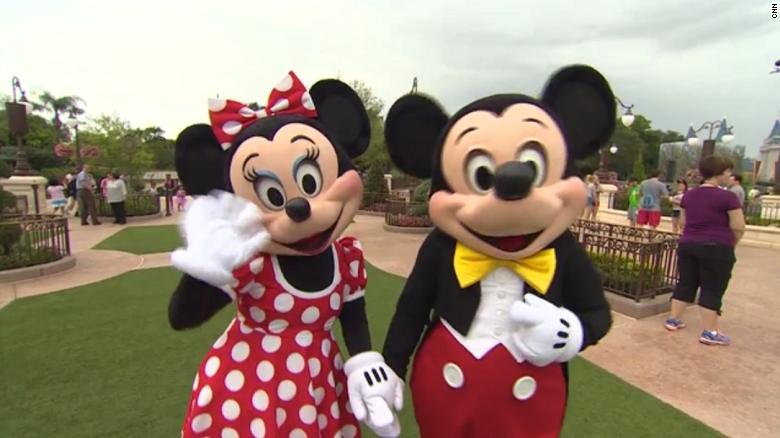 Mickey and Minnie Mouse. (Credit: CNN)