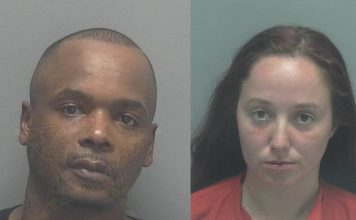 Mugshots of Herman Darnell Walker, 36, and Laila Fouissi, 22. (Credit: Lee County Sheriff's Office)