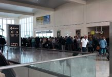 People missing flights because of long lines at RSW Wednesday morning. (Credit: WINK News)