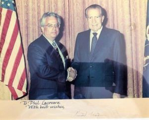 Philip Allen Lacovara with President Richard Nixon. (Credit: Lacovara)