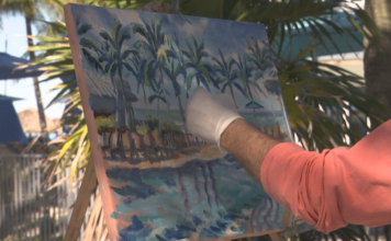 SWFL artists paint for people in need of legal services. (Credit: WINK News)