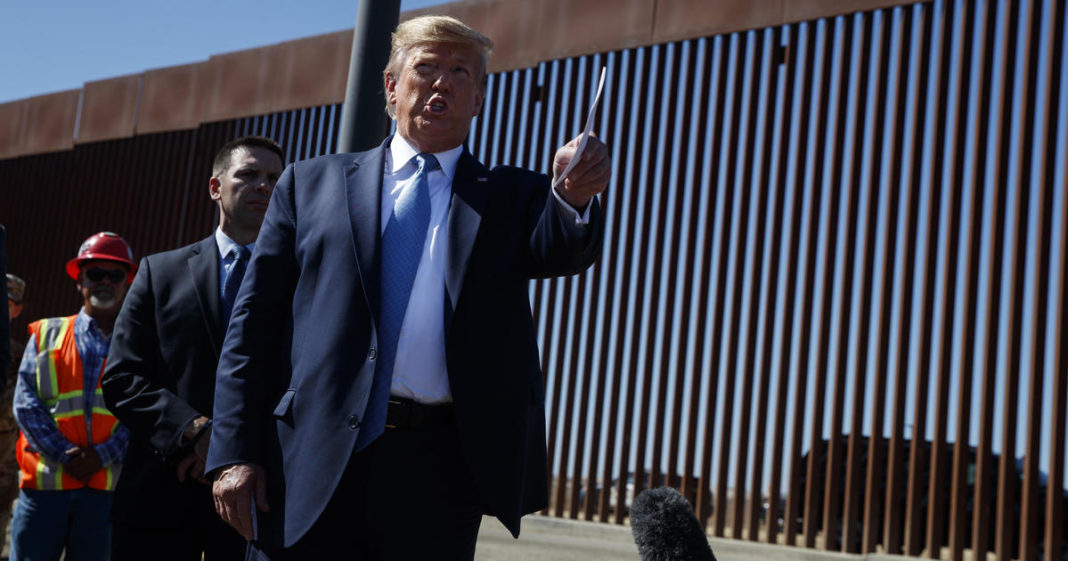 Smugglers are swing through the border wall. (Credit: AP)
