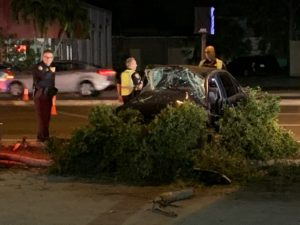 The second car in a bad crash involving an officer from the Cape Coral Police Dept. (Credit: WINK News)