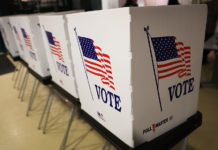 Voting booth. (Credit: CBS New York)